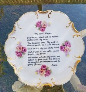 DECORATIVE WALL HANGING PLATE THE LORD'S PRAYER
